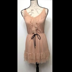 Xhilaration tan/cream tulle ballet dress - Size M